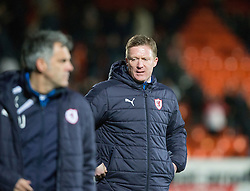 Raith Rovers manager Gary Locke at the end. Dundee United 3 v 0 Raith Rovers, Scottish Championship game played 4/2/2017 at Dundee United's stadium Tannadice Park.