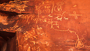 Petroglyphs at Valley of Fire State Park, Nevada USA