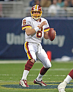 Washington Redskins quarterback Mark Brunell looks down field in the second half agaisnt St. Louis, at the Edward Jones Dome in St. Louis, Missouri, December 4, 2005.  The Redskins beat the Rams 24-9.