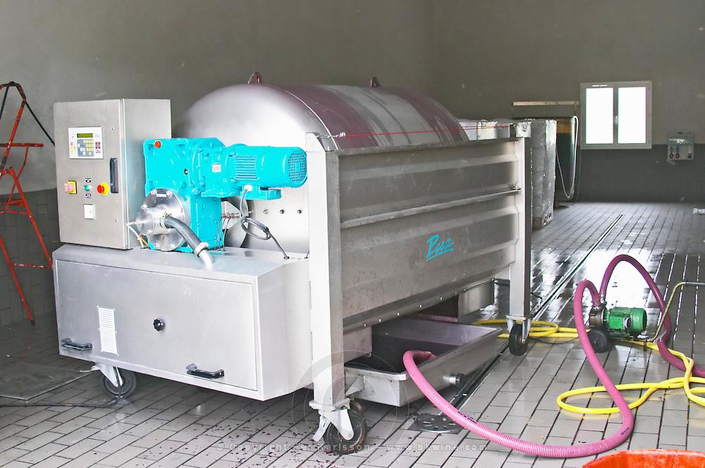 Domaine Haut-Lirou in St Jean de Cuculles. Pic St Loup. Languedoc. Wine press. France. Europe.