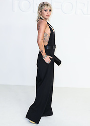 HOLLYWOOD, LOS ANGELES, CALIFORNIA, USA - FEBRUARY 07: Tom Ford: Autumn/Winter 2020 Fashion Show held at Milk Studios on February 7, 2020 in Hollywood, Los Angeles, California, United States. 07 Feb 2020 Pictured: Miley Cyrus. Photo credit: Xavier Collin/Image Press Agency/MEGA TheMegaAgency.com +1 888 505 6342