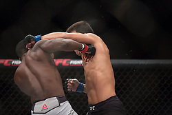 October 29, 2017 - Sao Paulo, Brazil - LYOTO MACHIDA (in black) and DEREK BRUNSON fight in the octagon, during UFC Fight Night Sao Paulo at Ibirapuera Gymnasium in Sao Paulo, Brazil. (Credit Image: © Paulo Lopes via ZUMA Wire)