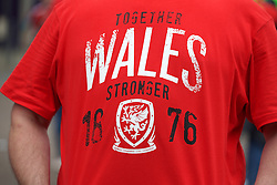 LILLE, FRANCE - Friday, July 1, 2016: The T Shirt of a Wales supporter in the centre of Lille ahead of the UEFA Euro 2016 Championship Quarter-Final match against Belgium at the Stade Pierre Mauroy. (Pic by Paul Greenwood/Propaganda)