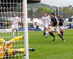 Dundee's Darren O'Dea cele scoring their penalty goal. Dundee 1 v 1 Ross County, SPFL Ladbrokes Premiership played 13/5/2017 at Dens Park.
