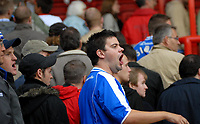 Photo: Ed Godden.<br />Bristol City v Brighton & Hove Albion. Coca Cola League 1. 02/09/2006. A Brighton fan shows his disappointment of his teams performance.