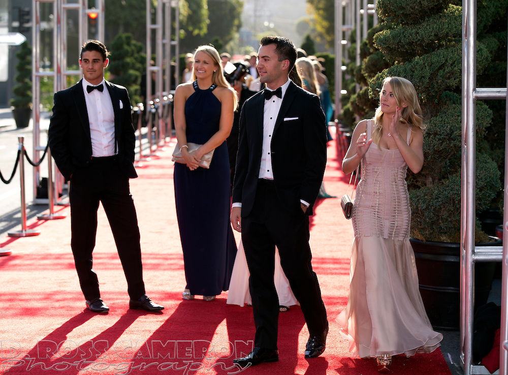 Guests arrive at the gala opening of the San Francisco Symphony, Wednesday, Sept. 3, 2014 at Davies Symphony Hall in San Francisco. (Photo by D. Ross Cameron)