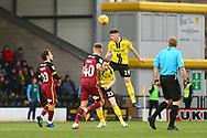 Burton Albion Reece Hutchinson (19) heads clear during the EFL Sky Bet League 1 match between Burton Albion and Bradford City at the Pirelli Stadium, Burton upon Trent, England on 26 January 2019.