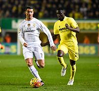 Villarreal CF's E. Bailly and Real Madrid's Cristiano Ronaldo during La Liga match. December 13, 2015. (ALTERPHOTOS/Javier Comos)