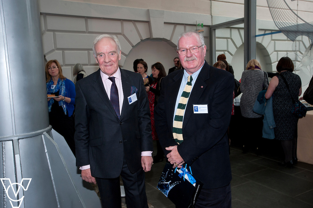 Chairman of the Heritage Education Trust, John Hamer OBE, left, and Gareth Fitzpatrick CBE<br /> <br /> Sandford Awards 2014 ceremony held at the National Maritime Museum, Greenwich.<br /> Date: December 5, 2014<br /> <br /> Picture: Chris Vaughan/Chris Vaughan Photography