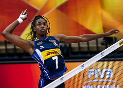 16-10-2018 JPN: World Championship Volleyball Women day 17, Nagoya<br /> Italy - Serbia / Sylvia Chinelo Nwakalor #7 of Italy