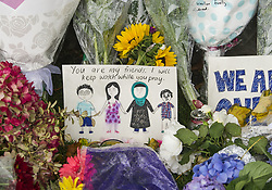 March 17, 2019 - Christchurch, Canterbury, New Zealand - Emotions continued to run high two days after a gunman killed at least 50 people in two city mosques. A growing stream of flowers and notes of solidarity and support for the Muslim community were being posted at the Botanic Gardens under gray and rainy skies. (Credit Image: © PJ Heller/ZUMA Wire)