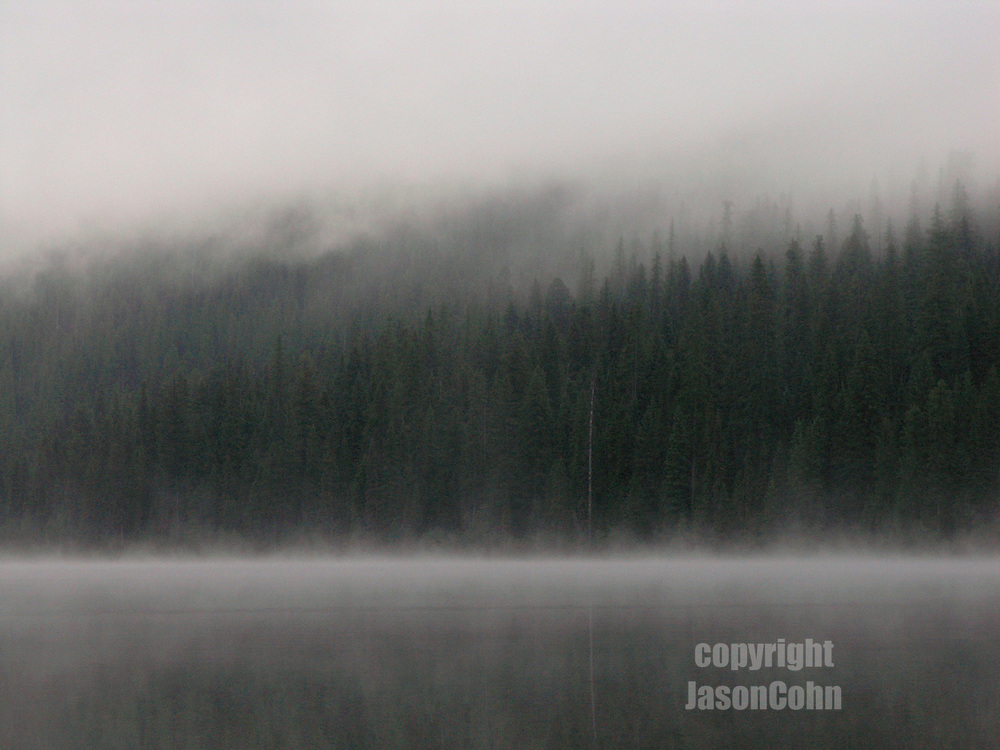 Morning mist on Middle Quartz Lake in Glacier Park, Montana. Photo by Jason Cohn