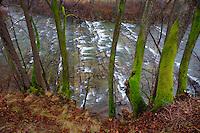 Sun river at Chmiel village, Bieszczady National Park, Poland