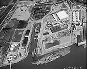"Ackroyd 18814-1 ""Schnitzer Industries, aerials Oregon Shipyard site at 4500 feet. April 17, 1974"" (St. Johns, north of Terminal 4, former Oregon Shipbuilding corp site.)"