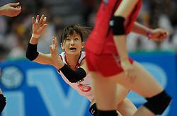 27-08-2010 VOLLEYBAL: WGP FINAL JAPAN - ITALY: BEILUN NINGBO<br /> Japan beats Italy in five sets / Yuko Sano<br /> ©2010-WWW.FOTOHOOGENDOORN.NL