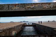 Rio de Janeiro, Brazil - March 5, 2019: The Canal de Jardim de Alah, which divides Leblon and Ipanema Beaches in Rio de Janeiro, Brazil.