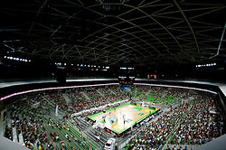 Arena Stozice during friendly match before Eurobasket Lithuania 2011 between National teams of Slovenia and Lithuania, on August 24, 2011, in Arena Stozice, Ljubljana, Slovenia. Slovenia defeated Lithuania 88-66. (Photo by Vid Ponikvar / Sportida)