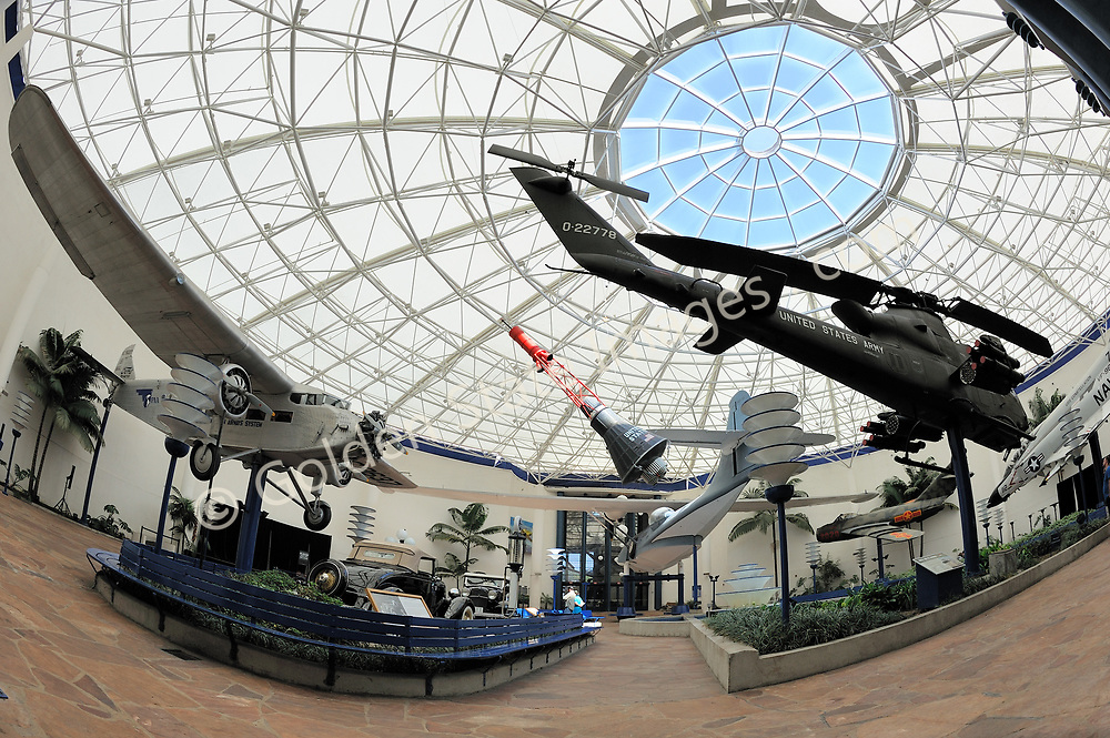 """Edwin D. McKellar Pavilion of Flight.<br /> <br /> """"In 1986 the Museum became the first aero-themed museum to be accredited by the American Association of Museums, and it is now a Smithsonian affiliate. <br /> <br /> The California Legislature voted to declare the Museum """"California's official Air and Space Museum and Education Center. <br /> <br /> Because of San Diego's contributions to aviation and aerospace history and technology, it is only fitting that the Museum is now recognized as one of the country's premier aerospace museums.""""<br /> <br /> In 2006, 2006 the Museum's name became San Diego Air & Space Museum.<br /> <br /> info taken from the official website."""