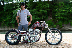 BCMoto invited builder Brandon Keene with his custom Evo at the Tennessee Motorcycles and Music Revival at Loretta Lynn's Ranch. Hurricane Mills, TN, USA. Saturday, May 22, 2021. Photography ©2021 Michael Lichter.