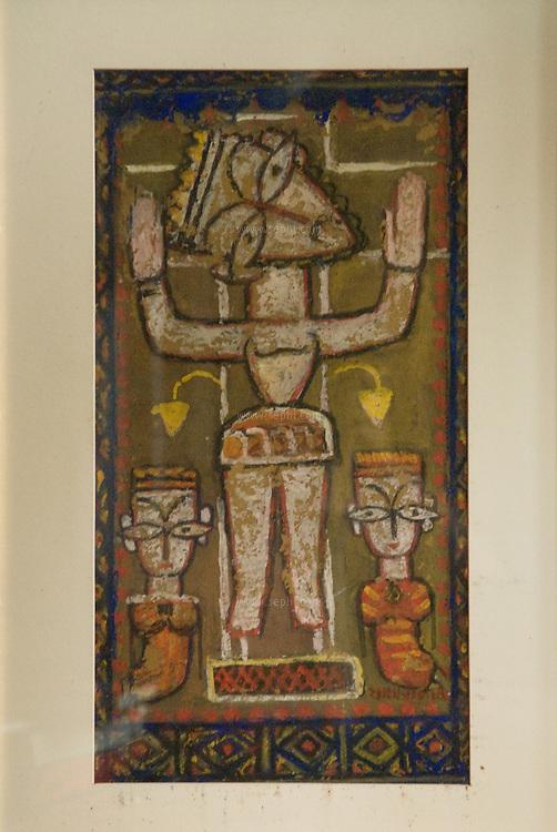 'The Crusifixion' by Jamini Roy. A part of Anjolie Ela Menon collection. New Delhi, September 2008