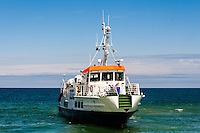 Sweden, Gotska Sandön national park. The boat from Nynäshamn.