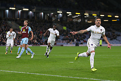 Leeds United's Pablo Hernandez celebrates scoring his side's second goal of the game during the Carabao Cup, third round match at Turf Moor, Burnley.