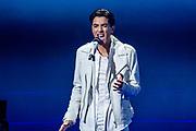 Tweede liveshow van het tiende seizoenThe voice of Holland .<br /> <br /> Op de foto: Ayoub Maach