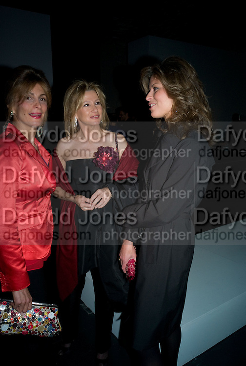 Marianne Sachs,  Miriam Cortina and Elena Cortina, Opening of Blood on Paper: the art of the Book. V & A. Museum. London. 14 April 2008. Afterwards there was a dinner hosted by Lady Foster.  *** Local Caption *** -DO NOT ARCHIVE-© Copyright Photograph by Dafydd Jones. 248 Clapham Rd. London SW9 0PZ. Tel 0207 820 0771. www.dafjones.com.
