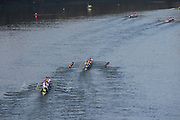 Chiswick. London. Saturday. 23.01.2016. Crew No.4, Imperial College and No.5 Molesey BC, competing in the  Quintin Head. River Thames.   [Mandatory Credit: Peter Spurrier/Intersport-images.com