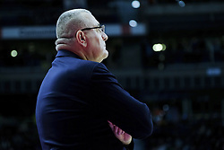 January 27, 2017 - Madrid, Spain - Jasmin Repesa, coach of EA7 Emporio Armani Milan reacts during the 2016/2017 Turkish Airlines Euroleague Regular Season Round 20 game between Real Madrid and EA7 Emporio Armani Milan at Barclaycard Center on January 27, 2017 in Madrid, Spain. (Credit Image: © Oscar Gonzalez/NurPhoto via ZUMA Press)