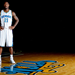 December 14, 2011; New Orleans, LA, USA; New Orleans Hornets guard Terrico White (21) poses for a photo during Media Day at the New Orleans Arena.   Mandatory Credit: Derick E. Hingle-US PRESSWIRE