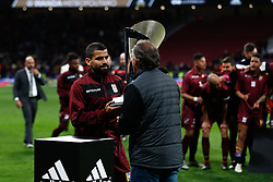 March 22, 2019 - Madrid, MADRID, SPAIN - Tomas Eduardo Rincon of Venezuela recibes the Adidas Cup trophy during the international friendly football match played between Argentina and Venezuela at Wanda Metropolitano Stadium in Madrid, Spain, on March 22, 2019. (Credit Image: © AFP7 via ZUMA Wire)