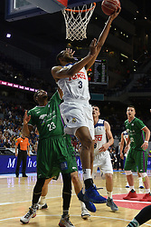 May 31, 2017 - Madrid, Madrid, Spain - Anthony Randolph (C), #3 of Real Madrid in action during the first game of the semifinals of basketball Endesa league between Real Madrid and Unicaja de Málaga. (Credit Image: © Jorge Sanz/Pacific Press via ZUMA Wire)