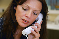 Young woman on the telephone,