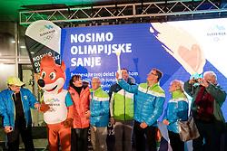 at Lighting and Handover Ceremonies of the OKS Olympic Flame for PyeongChang 2018, on January 9, 2018 in BTC City, Ljubljana, Slovenia. Photo by Matic Klansek Velej / Sportida