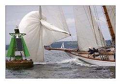 The Lady Anne hoisting spinnaker at CPA 'C' at the head of Cumbrae...The Round Cumbraes race at Larsg starting the 3rd Fife Regatta...* The Fife Yachts are one of the world's most prestigious group of Classic .yachts and this will be the third private regatta following the success of the 98, .and 03 events.  .A pilgrimage to their birthplace of these historic yachts, the 'Stradivarius' of .sail, from Scotland's pre-eminent yacht designer and builder, William Fife III, .on the Clyde 20th -27th June.   . ..More information is available on the website: www.fiferegatta.com . .Press office contact: 01475 689100         Lynda Melvin or Paul Jeffes