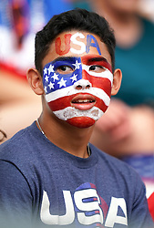 United States fan before the game