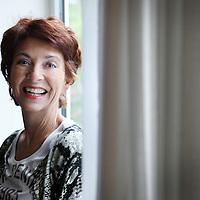 Nederland, Amsterdam , 19 september 2013.<br /> rudy Coenen geeft Nederlands op het 'zwarte' Montessori College Oost (MCO) in Amsterdam. 95 procent van de leerlingen is van allochtone afkomst en er zijn 49 nationaliteiten. In het najaar van 2010 is zij gekozen tot Leraar van het Jaar, omdat zij zowel vakinhoudelijk, als qua betrokkenheid en structuur, de kinderen vooruit weet te helpen. <br /> Ze schreef samen met Louise Koopman het boek: Spijbelen doe je maar thuis.<br /> <br /> Foto:Jean-Pierre Jans