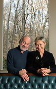 Mara Lavitt <br /> March 11, 2016<br /> Author Justin Scott and documentary filmmaker and singer Amber Edwards at home in Newtown.