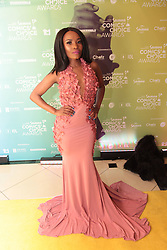 08/09/2018<br />Actress Thandy Mmatlaila is seen on the Yellow carpet arrivals at the 2018 Savanna Comics Choice Awards, LYRIC Theatre, Goldreef City, Johannesburg.<br />Picture: Nhlanhla Phillips/African News Agency/ANA