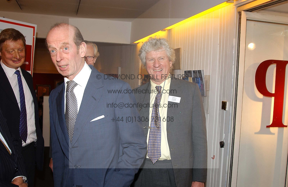 Left to right, HRH the DUKE OF KENT and ANDREW FESTING at the Royal Society of Portrait Painters annual show held at The Mall Galleries, The Mall, London on 26th April 2005.<br /><br />NON EXCLUSIVE - WORLD RIGHTS