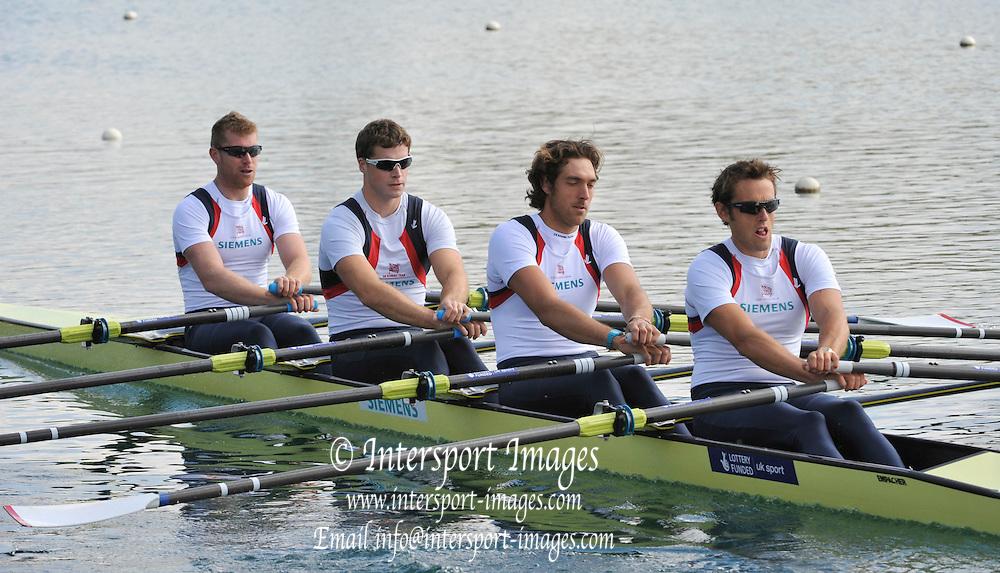 Caversham, Great Britain. GBR M4X Bow Matt WELLS, Tom SOLESBURY, Charles COUSINS and Steve ROWBOTHAM. 2012 GB Rowing World Cup Team Announcement Wednesday  04/04/2012  [Mandatory Credit; /Intersport-images]