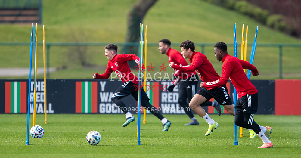 CARDIFF, WALES - Tuesday, March 23, 2021: Wales' Ben Cabango during a training session at the Vale Resort ahead of the FIFA World Cup Qatar 2022 Qualifying game against Belgium. (Pic by David Rawcliffe/Propaganda)