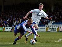 Photo: Olly Greenwood.<br />Gillingham v Huddersfield Town. Coca Cola League 1. 08/04/2006.<br />Gillingham's Gary Mulligan and Huddersfield's David Graham battle.