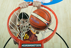 Predrag Samardziski of Macedonia during basketball match between Netherlands and Macedonia at Day 2 in Group C of FIBA Europe Eurobasket 2015, on September 6, 2015, in Arena Zagreb, Croatia. Photo by Vid Ponikvar / Sportida