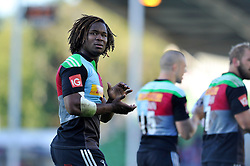 Marland Yarde of Harlequins looks on after the match - Photo mandatory by-line: Patrick Khachfe/JMP - Mobile: 07966 386802 04/10/2014 - SPORT - RUGBY UNION - London - The Twickenham Stoop - Harlequins v London Welsh - Aviva Premiership