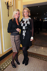 Left to right, ALEX BEST and CHERYL GASCOIGNE at the Lady Taverners Tribute Lunch in honour of Nicholas Parsons held at The Dorchester, Park Lane, London on 20th November 2009.