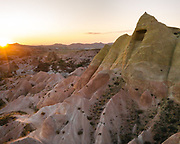 Sunset over Red Valley, Cappadocia.