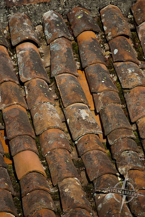 Terracotta roof, France