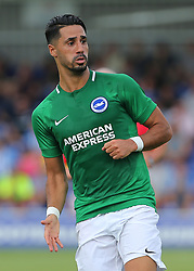 """Brighton and Hove Albion'ss Berem Kayal during a pre season friendly match at The Cherry Red Records Stadium, Kingston Upon Thames. PRESS ASSOCIATION Photo. Picture date: Saturday July 21, 2018. Photo credit should read: Mark Kerton/PA Wire. EDITORIAL USE ONLY No use with unauthorised audio, video, data, fixture lists, club/league logos or """"live"""" services. Online in-match use limited to 75 images, no video emulation. No use in betting, games or single club/league/player publications."""